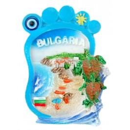 Релефна магнитна фигурка във формата на стъпало - морски пейзаж, България