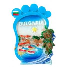 Релефна магнитна фигурка във формата на стъпало - капитанска среща в Несебър, българия