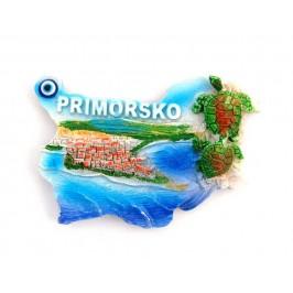 Декоративна фигурка с магнит във формата на картата на България - Приморско