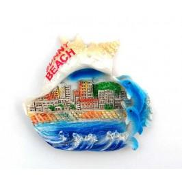 Декоративна фигурка с магнит - Слънчев бряг