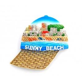 Декоративна фигурка с магнит във формата на шапка - Слънчев бряг