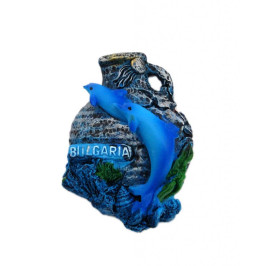 Декоративна фигурка с магнит във формата на делва и делфини - България