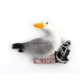 Декоративна фигурка с магнит във формата на гларус и котва - България