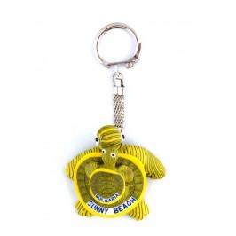 Ключодържател гумена фигурка - костенурка с малкото си