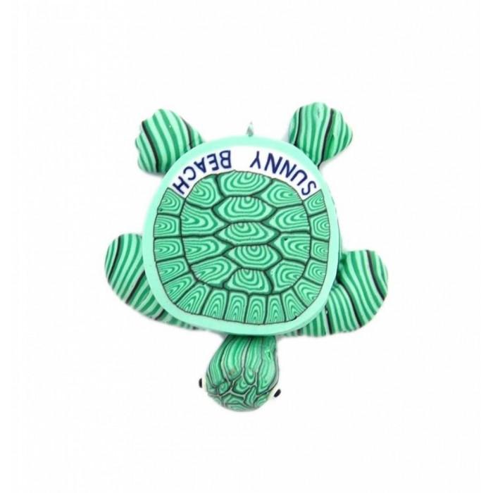 Сувенирна гумена фигурка с магнит - костенурка с надпис Слънчев бряг