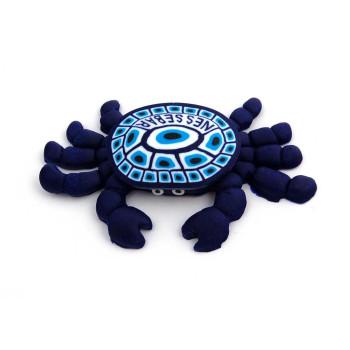 Сувенирна гумена фигурка с магнит - рак с надпис Несебър на английски