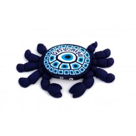 Сувенирна гумена фигурка с магнит - рак с надпис Приморско на английски