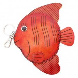 Кожено портмоне във формата на риба
