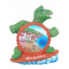 Релефна фигурка с магнит във формата на костенурка - морски мотиви, България