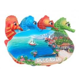 Релефна фигурка с магнит с морски кончета - морски мотиви - тераса с изглед, България