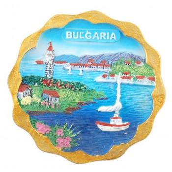 Магнитна релефна фигурка - морски мотиви - лодки и фар, България