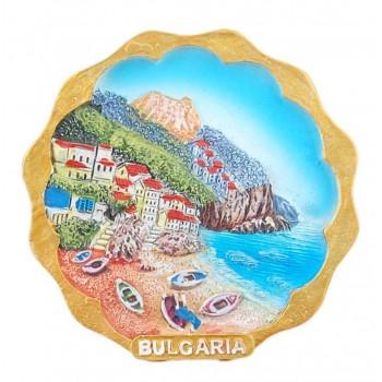 Магнитна релефна фигурка - морски мотиви - лодки и къщички, България