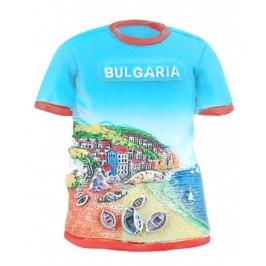 Магнитна релефна фигурка във формата на тениска - морски мотиви, България