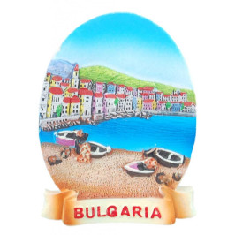 Магнитна релефна фигурка в елипсовидна форма - морски изглед, България