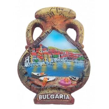 Магнитна релефна фигурка във формата на делва - морски изглед, България