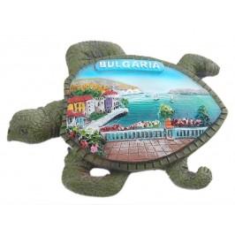 Релефна фигурка с магнит във формата на костенурка - морски мотиви - тераса с изглед, България