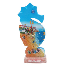 Сувенирен часовник във формата на морско конче - морски мотиви, България