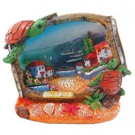 Сувенирна декоративна фигурка във формата на бъчва - морски мотиви, България