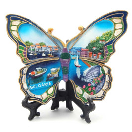 Сувенирна релефна фигурка във формата на пеперуда - морски мотиви, България