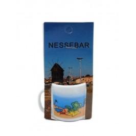 Сувенирна чаша от порцелан - Несебър