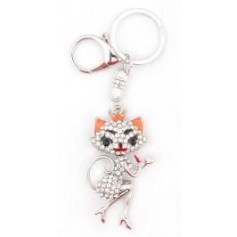 Ключодържател с фигурка - женска котка с червило и обувки