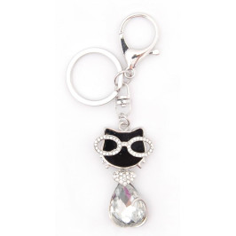 Ключодържател с фигурка - котка с очила