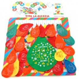 144 броя цветни балони с рисунка