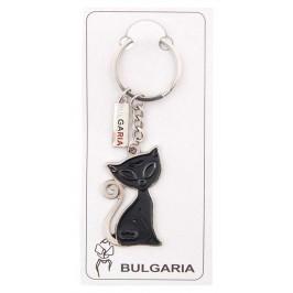 Сувенирен метален ключодържател - черна котка