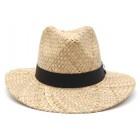 Плетена каубойска шапка с черна лента