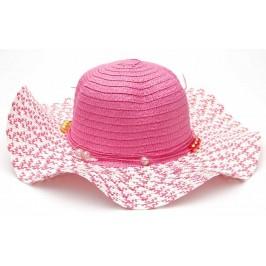 Красива шапка с голяма периферия, декорирана с панделка
