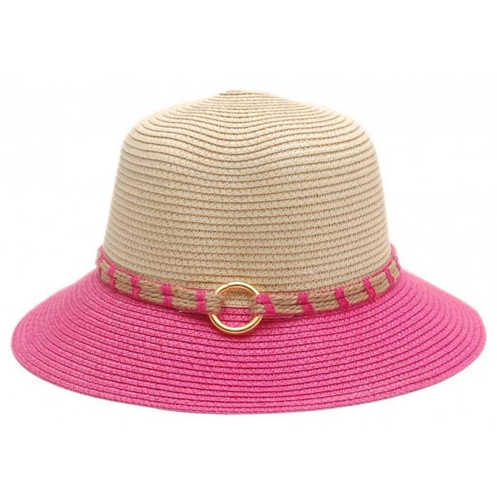 Красива дамска шапка с декоративна лента с халка