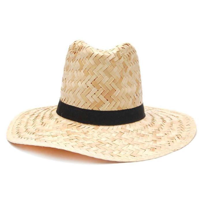 Плетена шапка - каубойска с черна лента