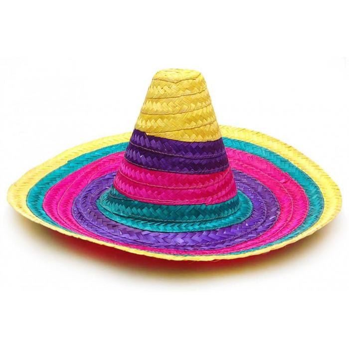 Цветна плетена шапка - мексиканска