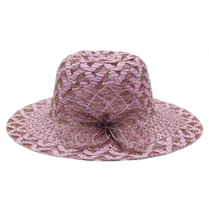 Стилна дамска шапка с декоративно мрежесто цвете