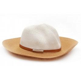 Плетена дамска шапка с кафява периферия