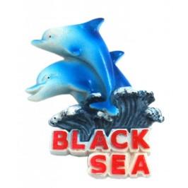 Магнитна релефна фигурка във формата на два делфина - Черно море