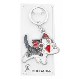 Сувенирен метален ключодържател с фигурка - котка