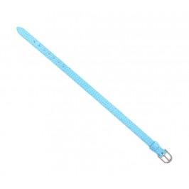 Светло синя верижка изкуствена кожа с метална закопчалка