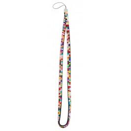 Връзка за телефон за врат - цветни камъчета