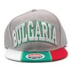 Спортна лятна шапка с надпис България и козирка в цветовете на българския трикольор