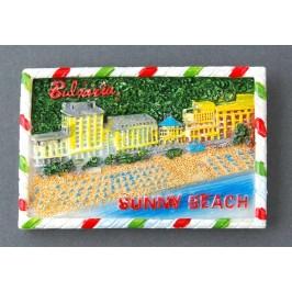 Магнитна релефна фигурка - плажовете на Слънчев бряг