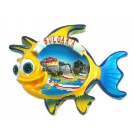 Магнитна релефна фигурка във формата на рибка - капитанска среща, Несебър