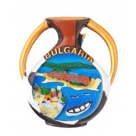 Магнитна релефна фигурка във формата на амфора - морски мотиви, България