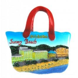 Декоративна релефна фигурка във формата на плажна чанта - плажовете на Слънчев бряг