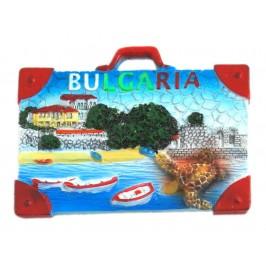 Декоративна релефна фигурка във формата на куфар с костенурка - морски мотиви, България