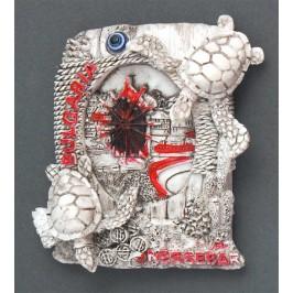 Сувенирна релефна фигурка с магнит - старата мелница в Несебър