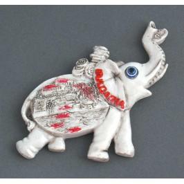 Магнитна релефна фигурка във формата на слон с вдигнат хобот - капитанска среща, Несебър