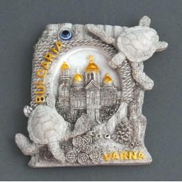 Сувенирна релефна фигурка с магнит - катедралата във Варна
