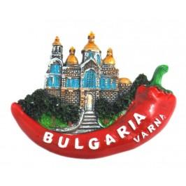 Декоративна релефна фигурка във формата на люта чушка - катедралата във Варна