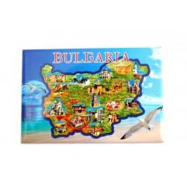 Неогъваща се магнитна пластинка - карта на България със забележителности